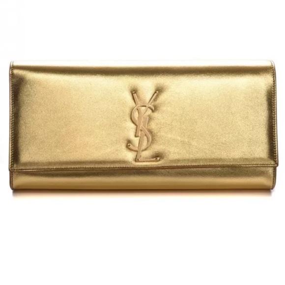 32f4a27b577d YSL Saint Laurent Cassandre Gold Metallic Monogram.  M 5a698432077b974bb619870b